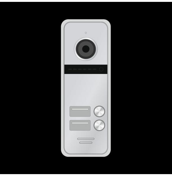 FANTASY 2 HD SILVER - 2 абонентская HD вызывная панель 1.3 Мп, ver. 4704