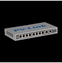 PV-POE08M2 - 10 портовый коммутатор 10/100 Мбит/с с 8 портами PoE, ver. 2051