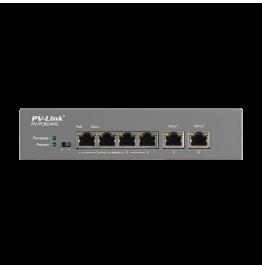 PV-POE04M2 - 6 портовый коммутатор 10/100 Мбит/с с 4 портами PoE, ver. 2052