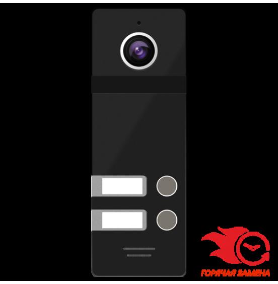 FANTASY 2 BLACK - 2 абонентская вызывная панель 800 ТВЛ, ver. 4467