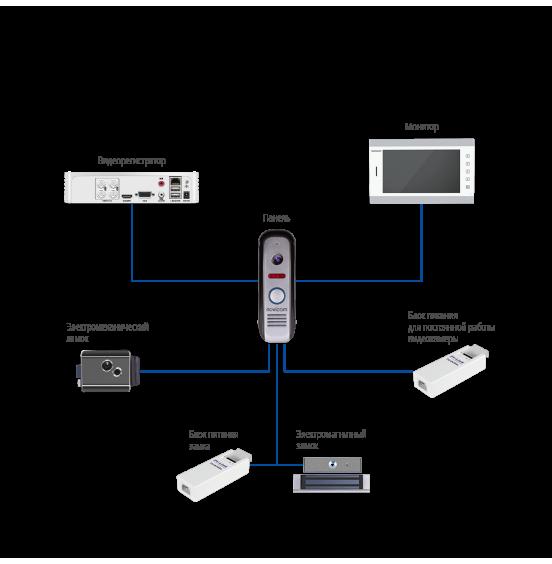 MASK BLACK - вызывная панель 800 ТВЛ, ver. 4609