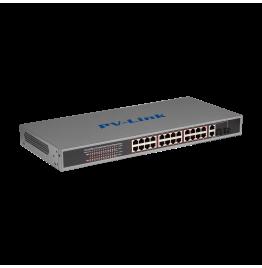 PV-POE24G2F2 - 28 портовый коммутатор с 24 портами PoE 10/100 Мбит/с, 2 комбо-порта 100/1000 Мбит/с, ver. 278