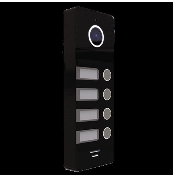 FANTASY 4 BLACK - 4 абонентская вызывная панель 800 ТВЛ, ver. 4465